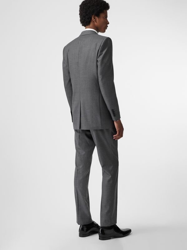 Classic Fit Sharkskin Wool Suit in Mid Grey Melange - Men | Burberry Singapore - cell image 2