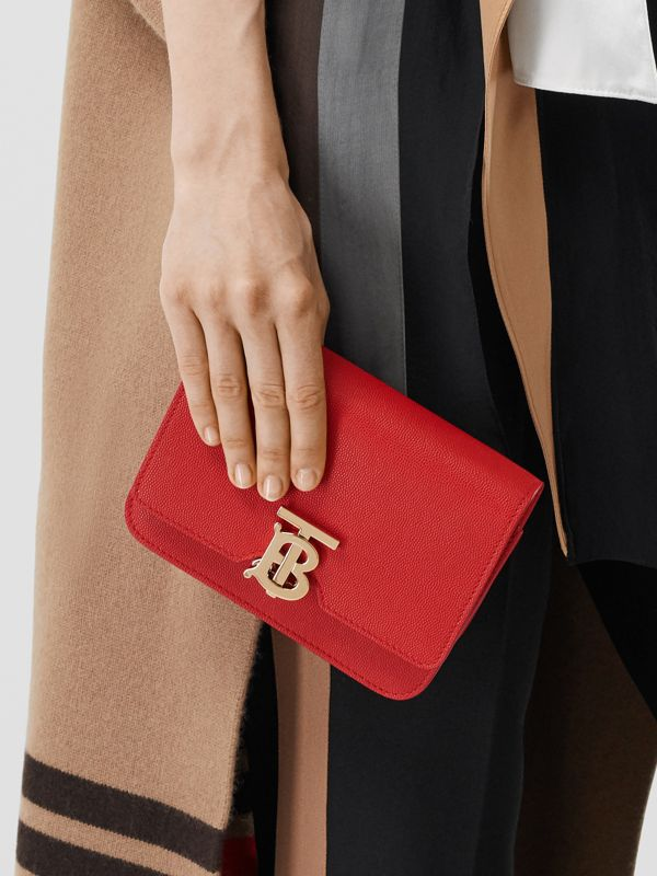 Mini Grainy Leather TB Bag in Bright Red - Women | Burberry - cell image 2