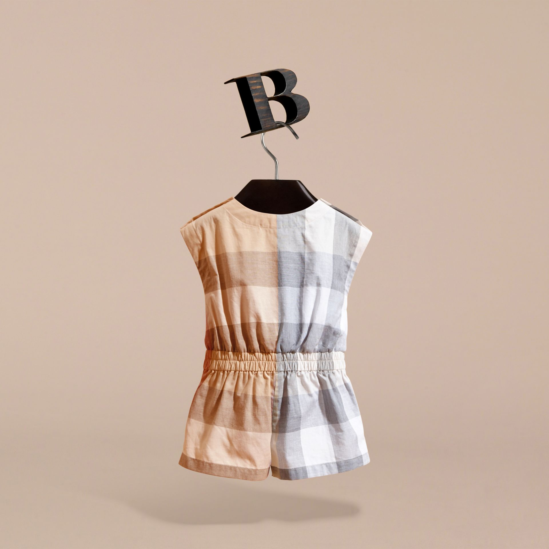 Check Cotton Playsuit | Burberry - gallery image 4