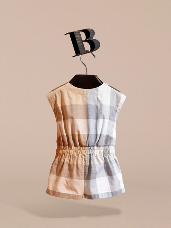 Check Cotton Playsuit | Burberry - cell image 3