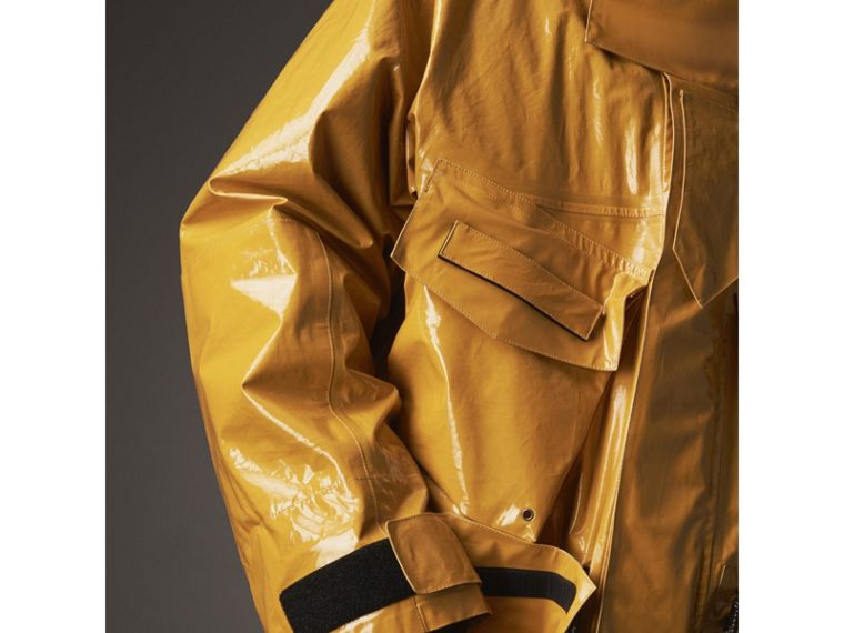 Seam-sealed Weatherproof Coat with Down-filled Warmer in Amber Yellow - Men | Burberry - cell image 4
