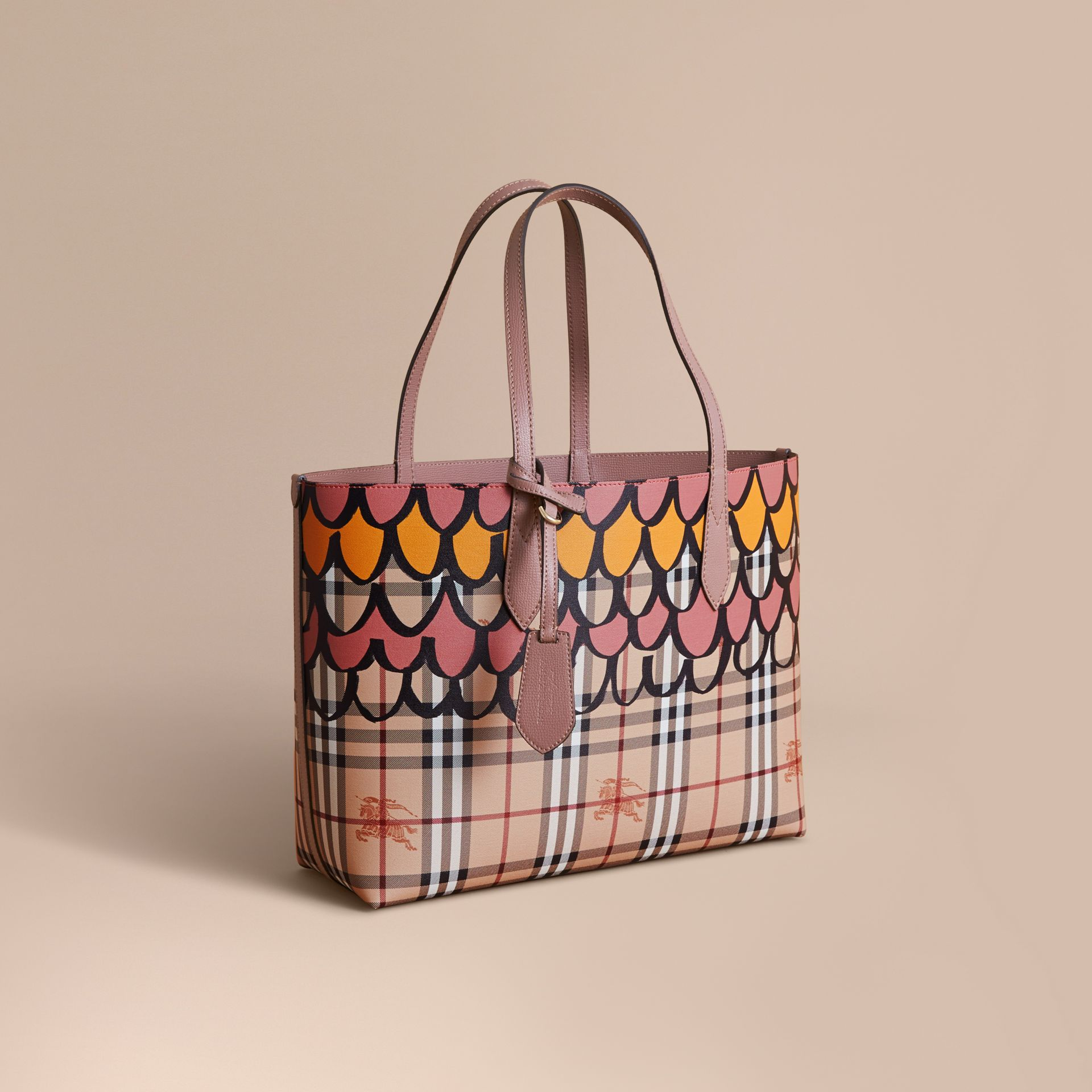 The Medium Reversible Tote in Trompe L'oeil Print - gallery image 1