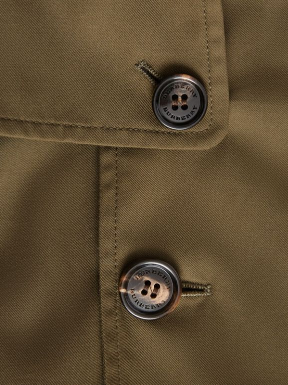 Cotton Gabardine Trench Coat in Military Olive | Burberry - cell image 1