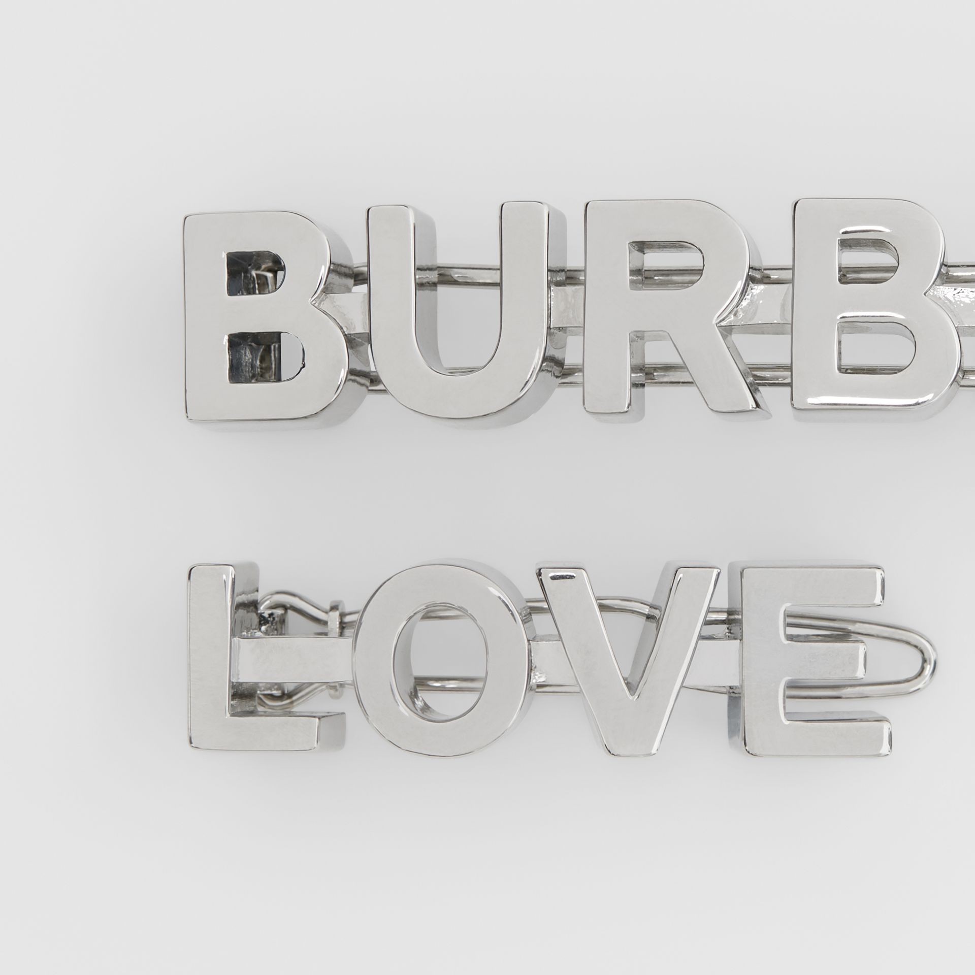Palladium-plated Logo and Love Hair Clips - Women | Burberry United Kingdom - gallery image 2