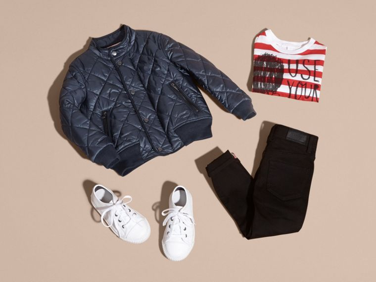 Lightweight Quilted Bomber Jacket - Boy | Burberry Canada - cell image 4