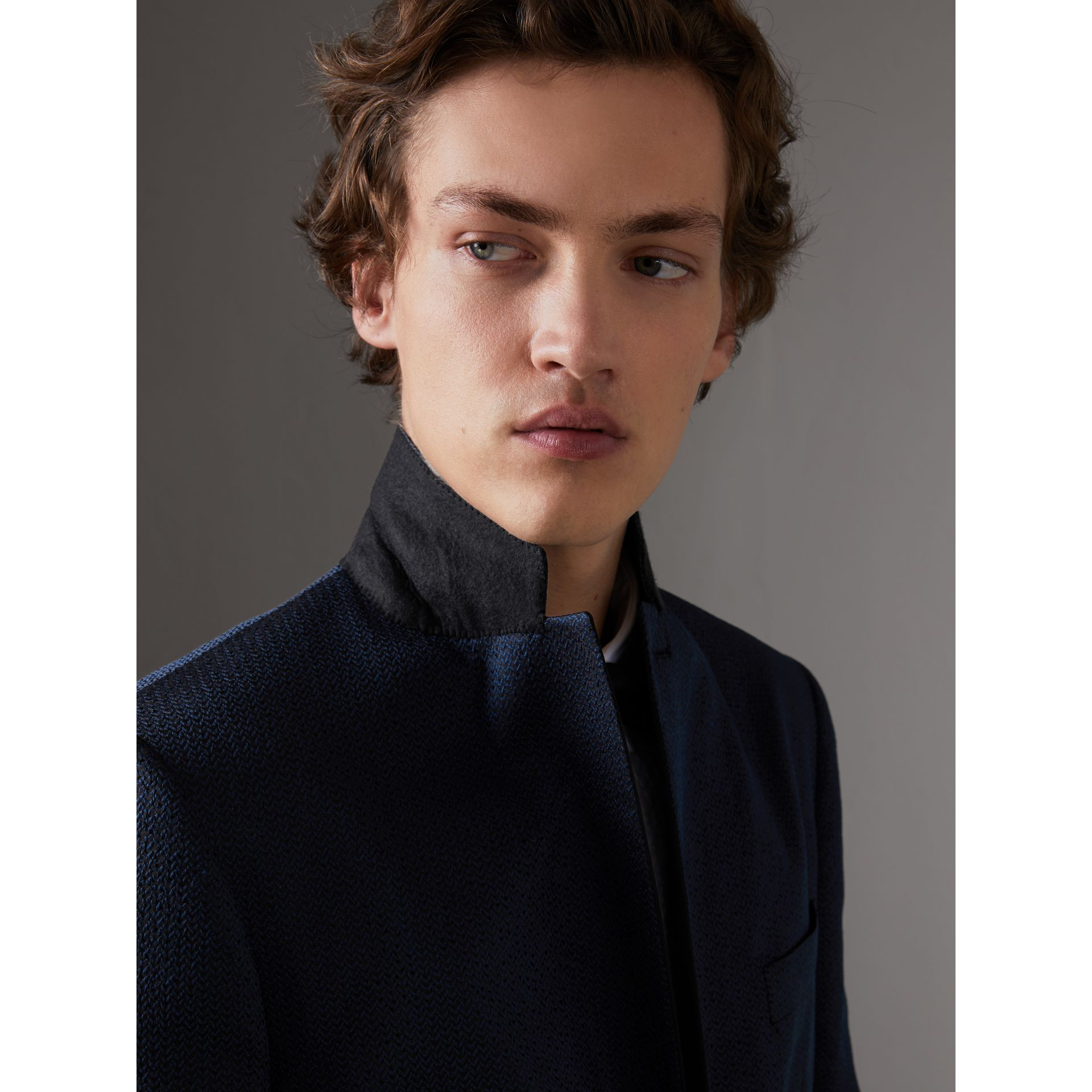 Soho Fit Jacquard Evening Jacket in Navy - Men | Burberry - gallery image 4
