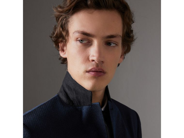 Soho Fit Jacquard Evening Jacket in Navy - Men | Burberry - cell image 4
