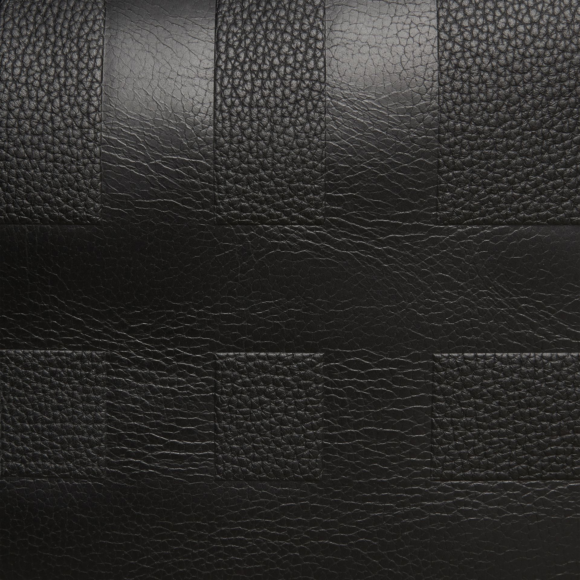 Black Check Embossed Leather Holdall - gallery image 2