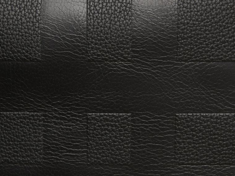 Black Check Embossed Leather Holdall - cell image 1