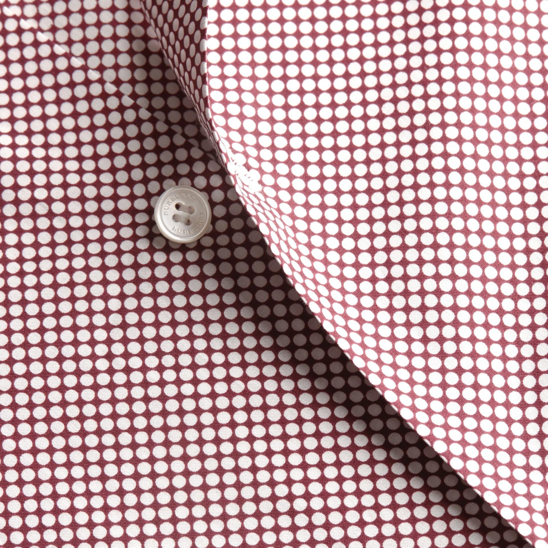 カーマインレッド ポルカドット コットンシャツ カーマインレッド - ギャラリーイメージ 2