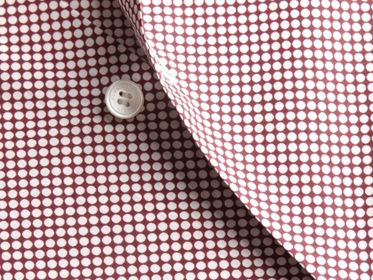 Carmine red Polka-dot Cotton Shirt Carmine Red - cell image 1