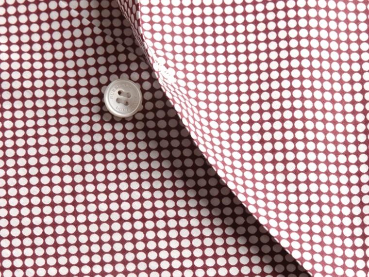 カーマインレッド ポルカドット コットンシャツ カーマインレッド - cell image 1