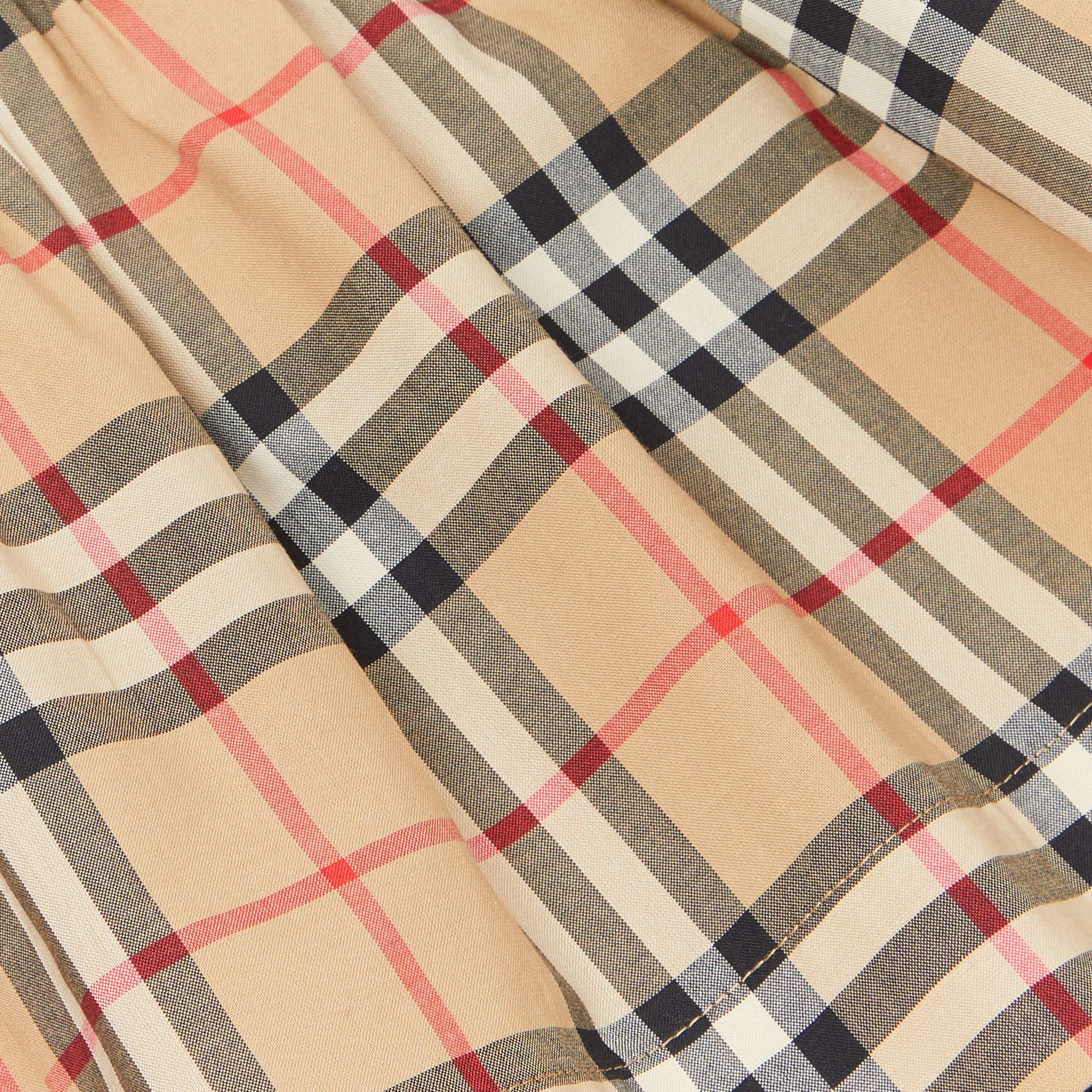 Vintage Check Detail Cotton Dress in White - Children | Burberry Canada - gallery image 1