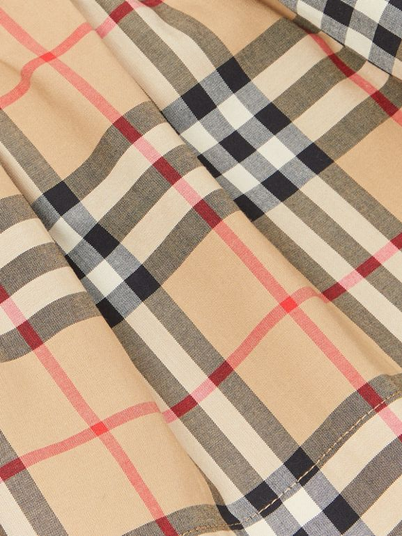 Vintage Check Detail Cotton Dress in White - Children | Burberry Canada - cell image 1