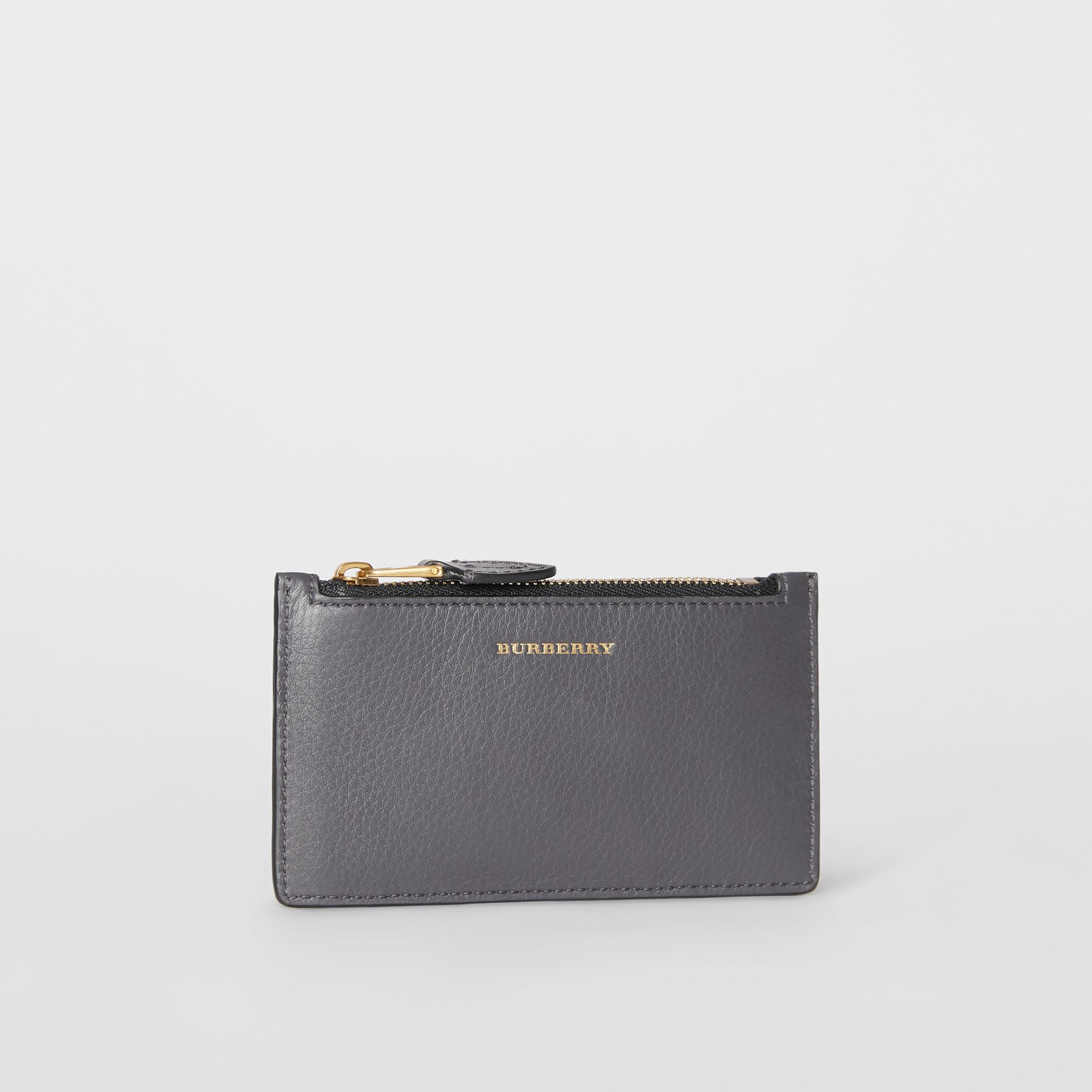 Two-tone Leather Card Case in Charcoal Grey - Women | Burberry Singapore - gallery image 4