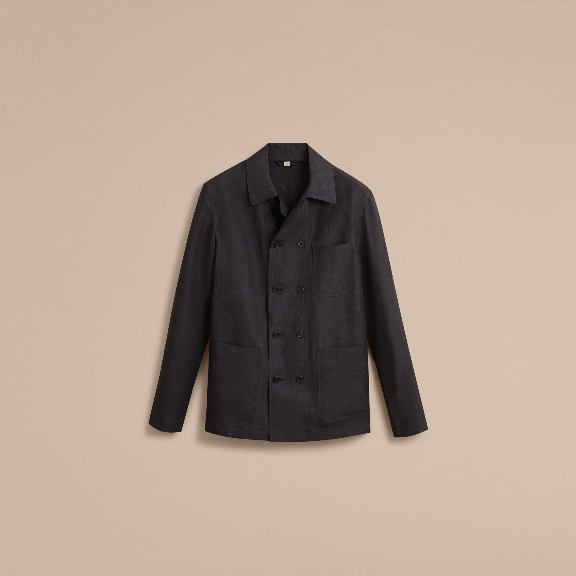 Linen Double-breasted Artist Jacket - Men | Burberry - gallery image 4