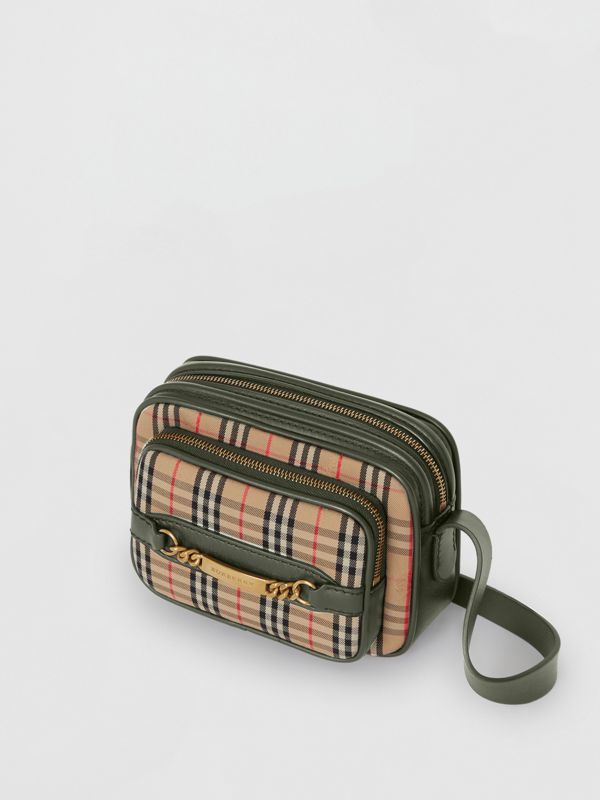 The 1983 Check Link Camera Bag in Dark Forest Green - Men | Burberry - cell image 2