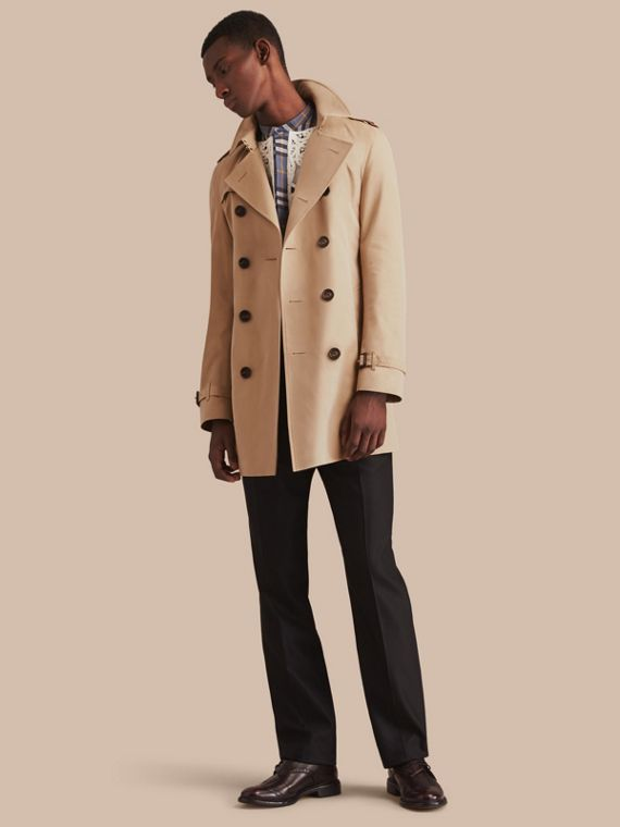 The Chelsea – Trench coat Heritage médio Mel