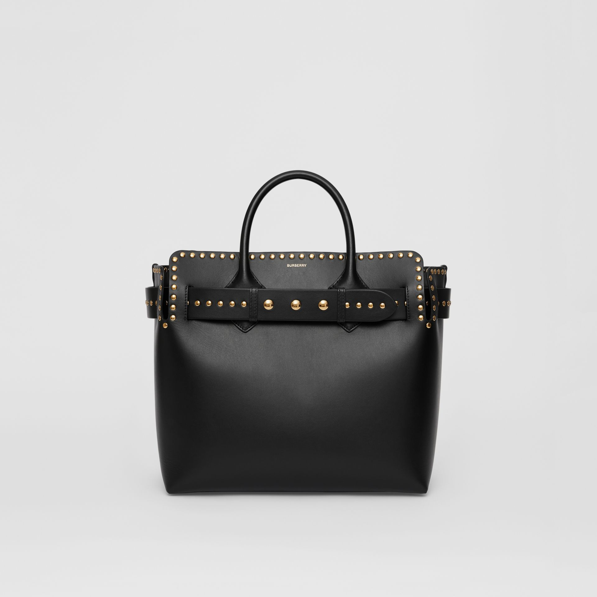 The Medium Studded Leather Triple Stud Belt Bag in Black - Women | Burberry Australia - gallery image 0