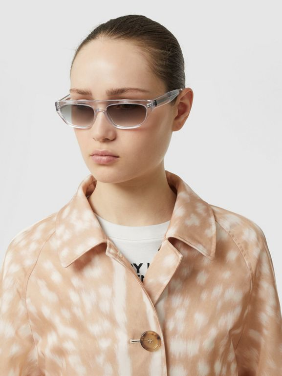 Deer Print Nylon Car Coat in Soft Fawn - Women | Burberry United Kingdom - cell image 1