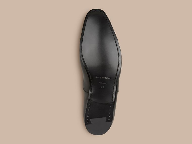 Black Classic Leather Oxford Shoes - cell image 4