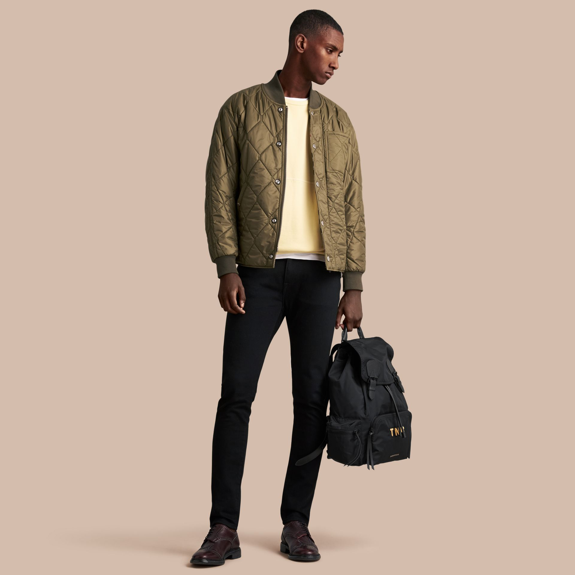 Quilted Bomber Jacket in Khaki - Men | Burberry Singapore - gallery image 1