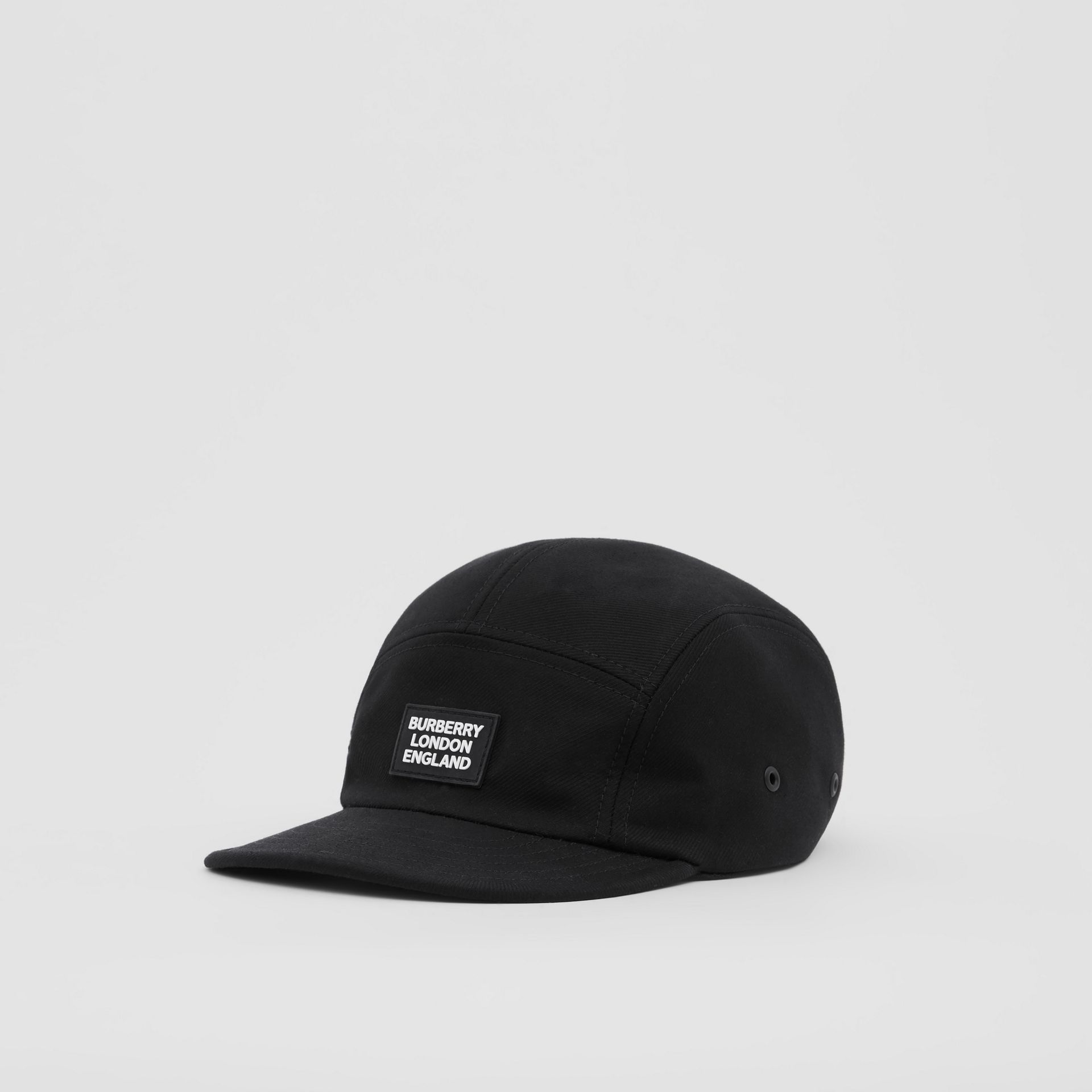 Logo Appliqué Cotton Twill Cap in Black | Burberry United States - gallery image 4