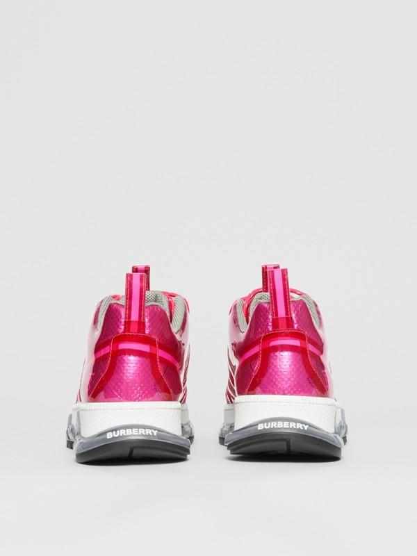 Zapatillas deportivas Union en vinilo y nailon (Fucsia) - Hombre   Burberry - cell image 3