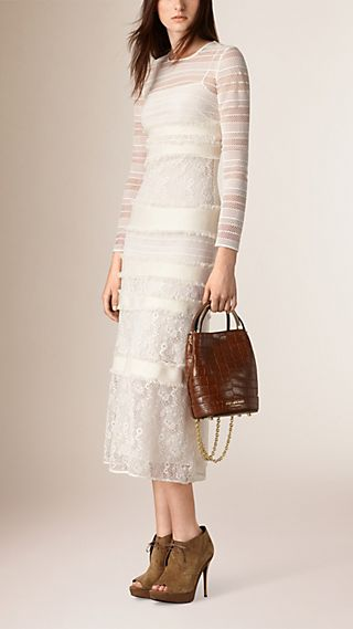 Long-Sleeved Italian Lace Dress