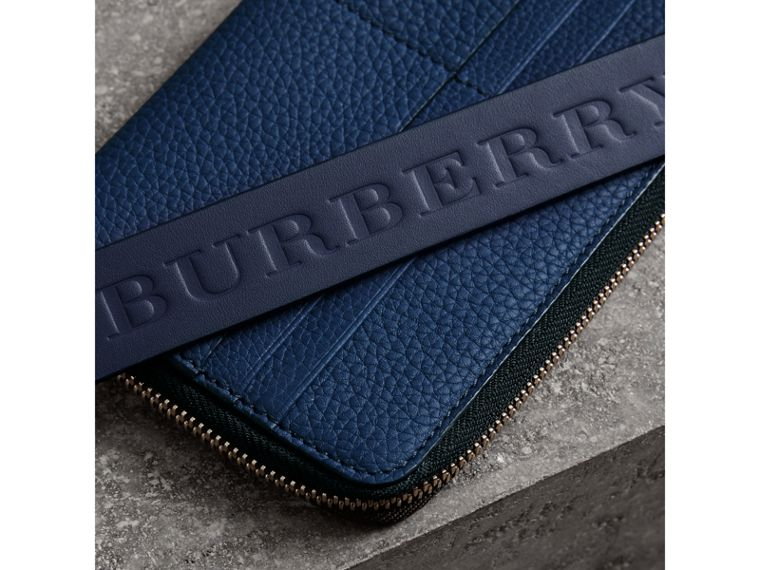 Grainy Leather Phone Case in Bright Ultramarine - Men | Burberry - cell image 1