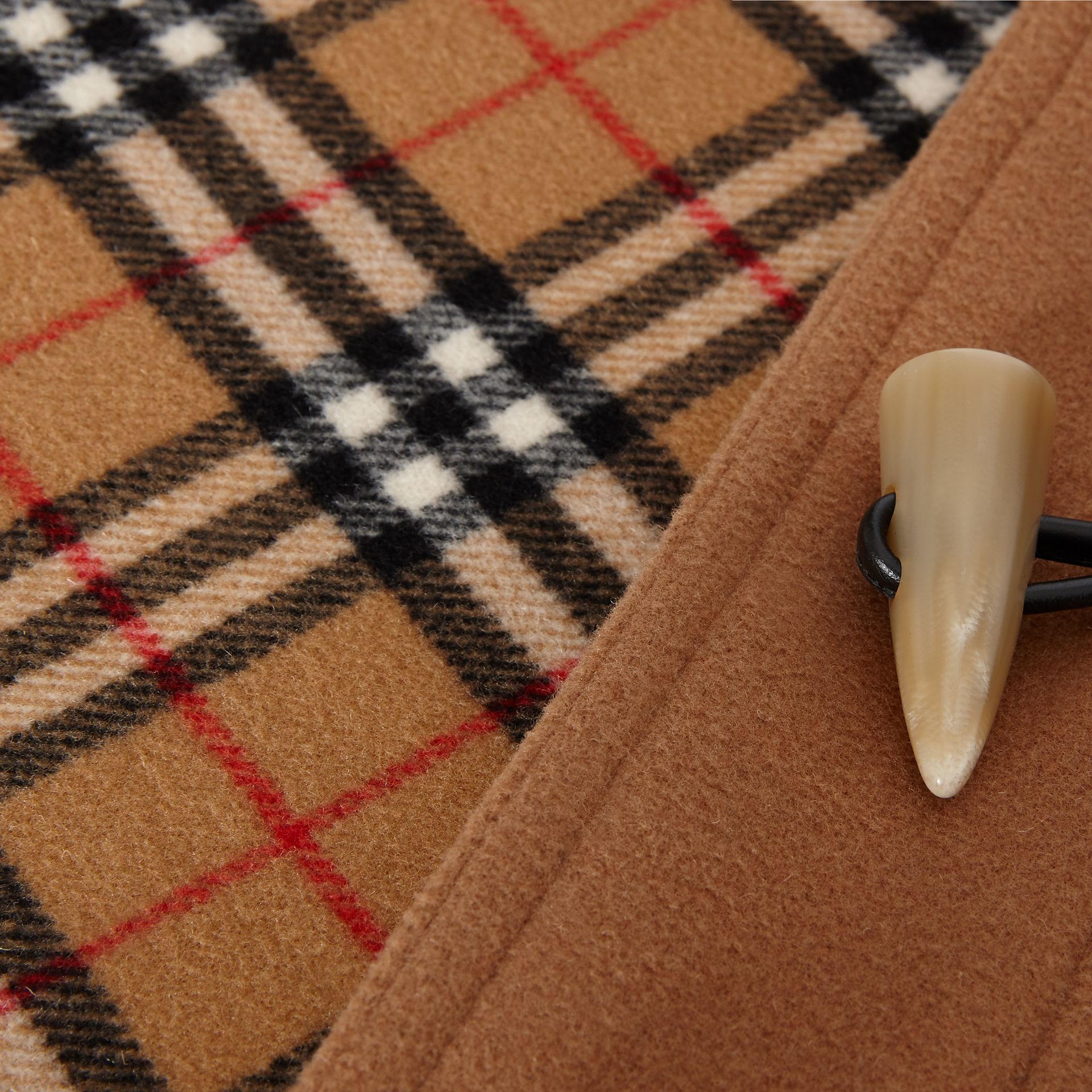 Wool Blend Duffle Coat in Camel - Women | Burberry United States - gallery image 6