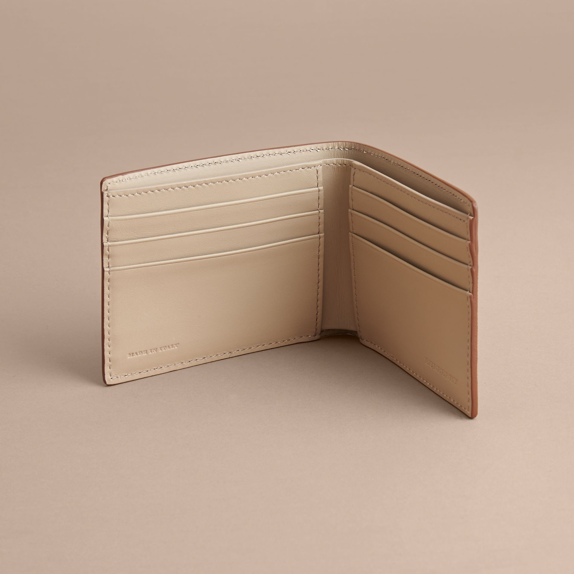 London Leather Bifold Wallet in Tan | Burberry - gallery image 5