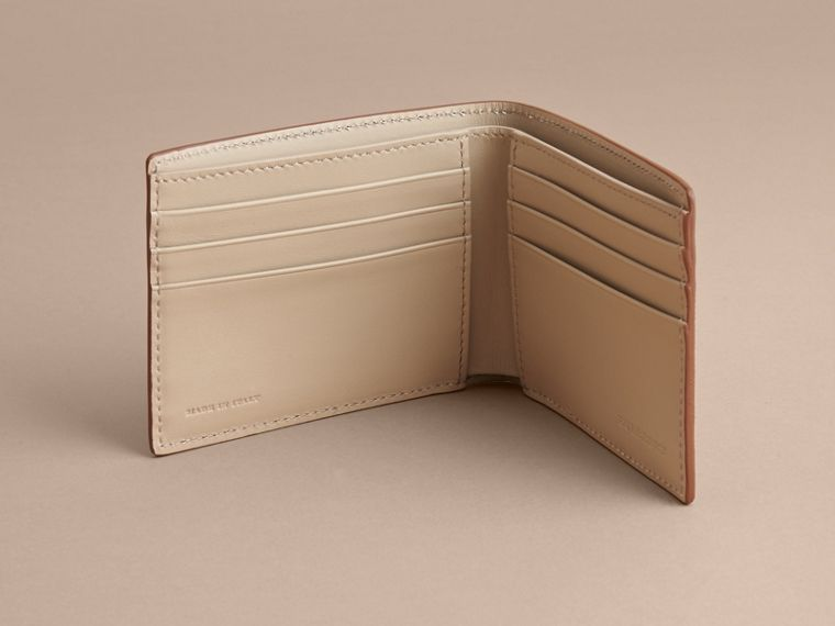 London Leather Bifold Wallet in Tan | Burberry - cell image 4