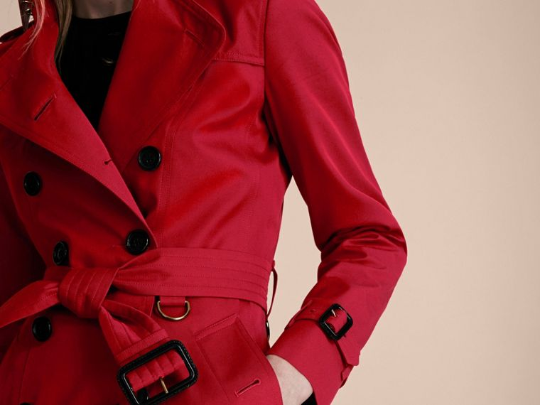 Rojo desfile Trench coat Chelsea – Trench coat Heritage de longitud media Rojo Desfile - cell image 4