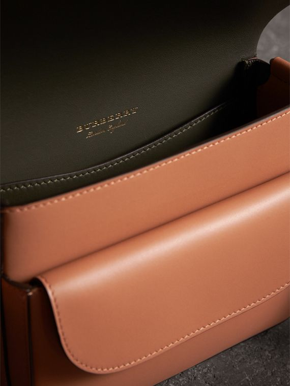 The Square Satchel in Leather in Camel - Women | Burberry - cell image 3