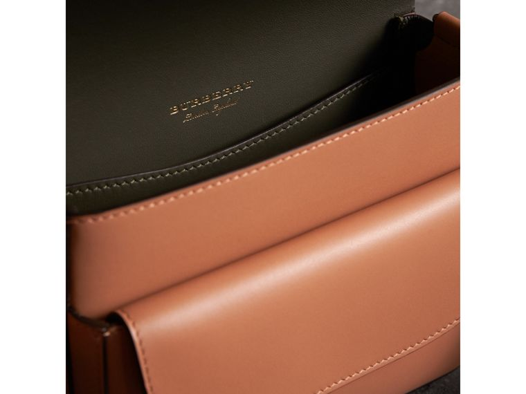 The Square Satchel in Leather in Camel - Women | Burberry Australia - cell image 4
