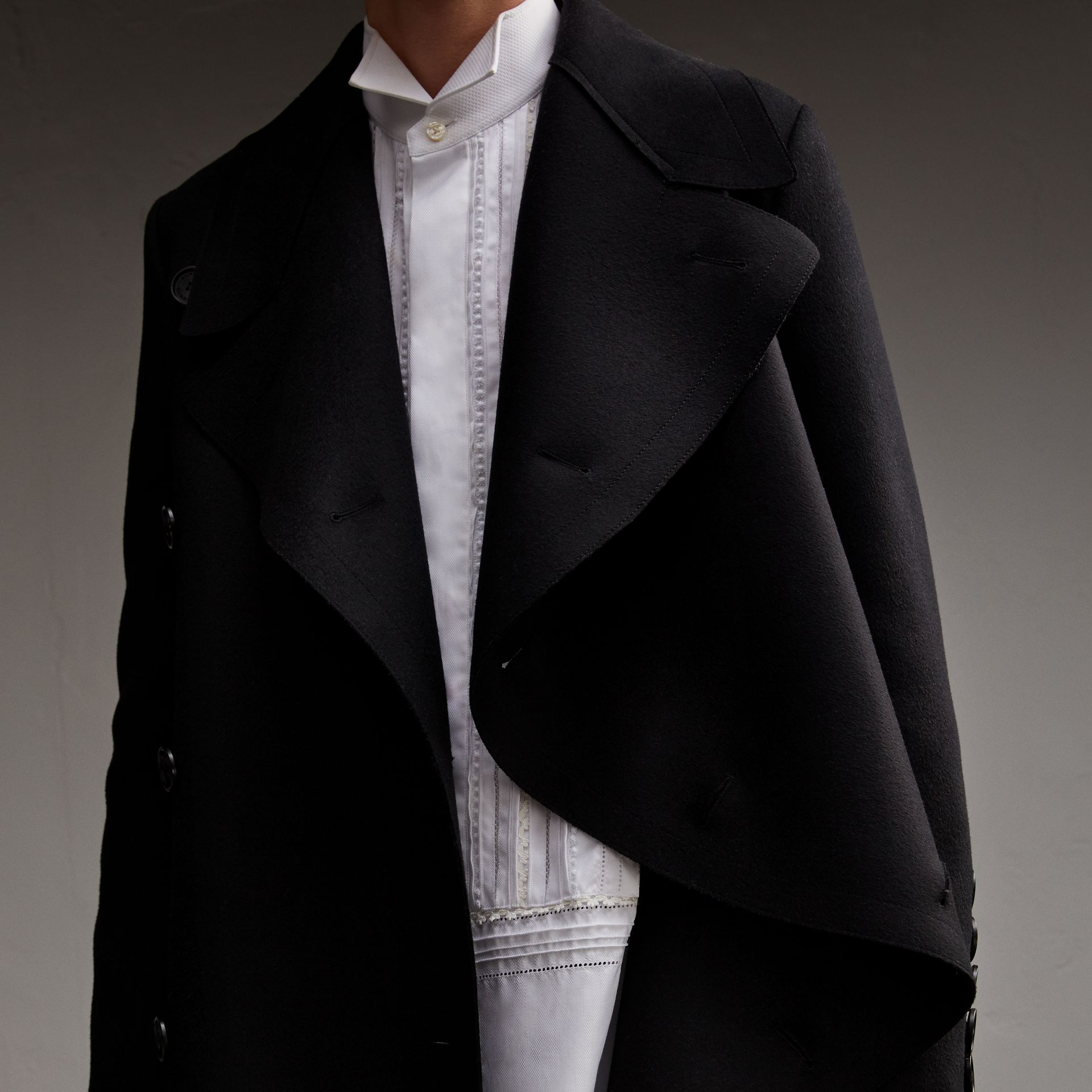 Military Wool Asymmetric Topcoat - Men | Burberry - gallery image 5