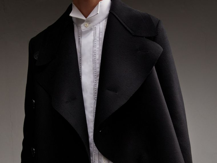 Military Wool Asymmetric Topcoat - Men | Burberry - cell image 4