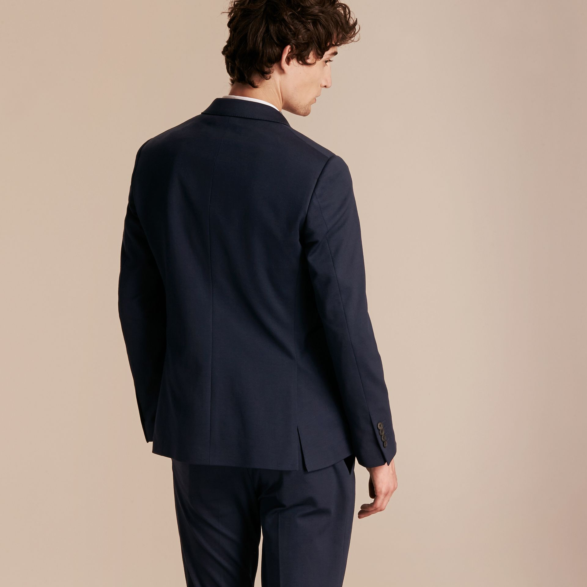Slim Fit Cotton Blend Travel Tailoring Suit - Men | Burberry - gallery image 3
