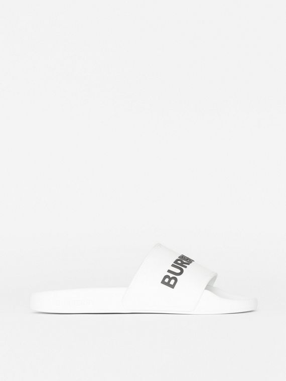 Kingdom Print Slides in Optic White