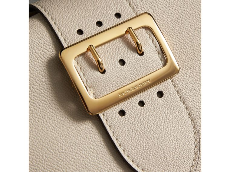 The Small Buckle Crossbody Bag in Leather in Limestone - Women | Burberry - cell image 1