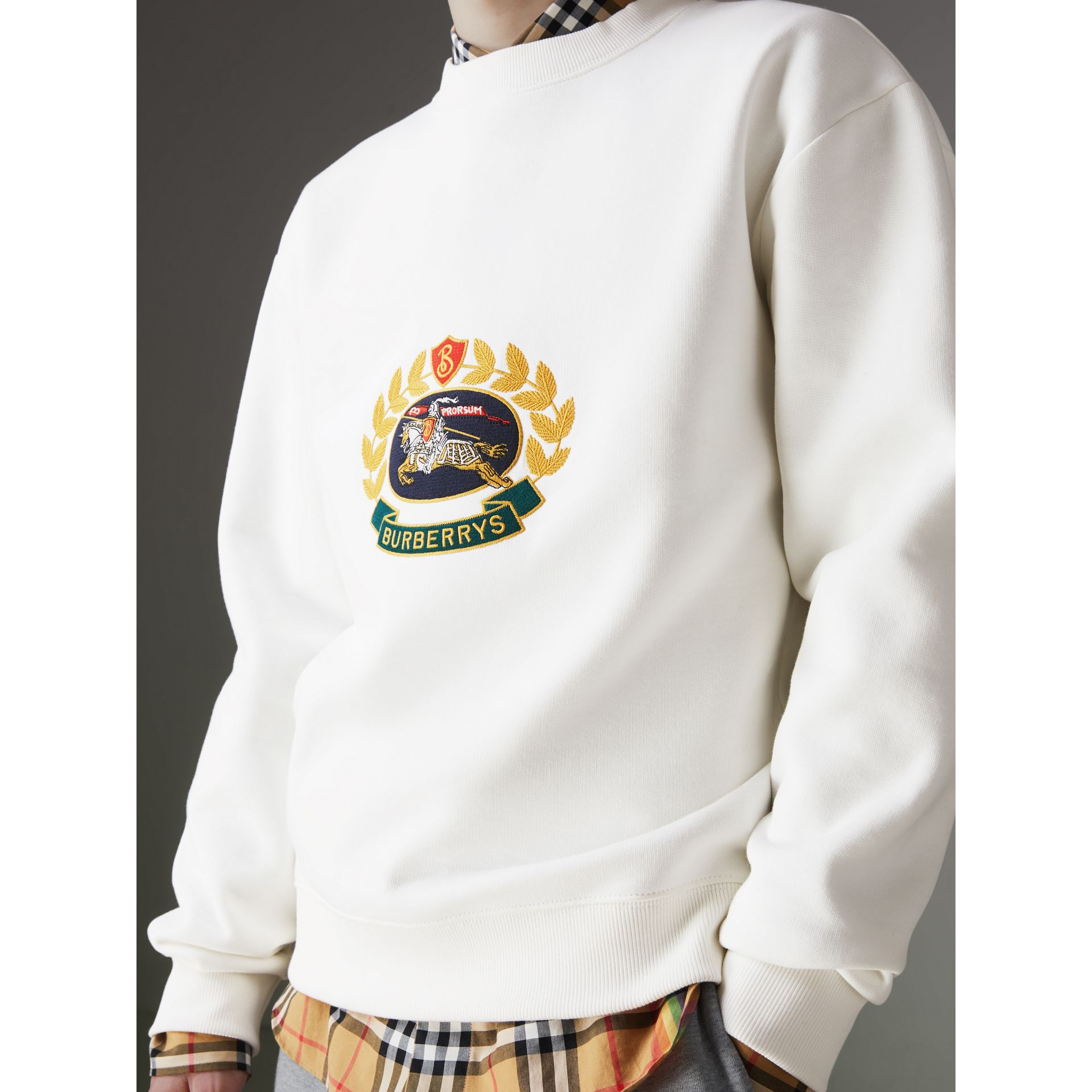 Reissued Jersey Sweatshirt in Off White - Men | Burberry - gallery image 1
