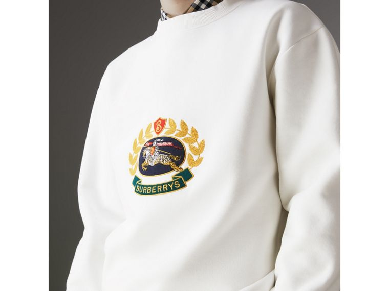 Reissued Jersey Sweatshirt in Off White - Men | Burberry - cell image 1