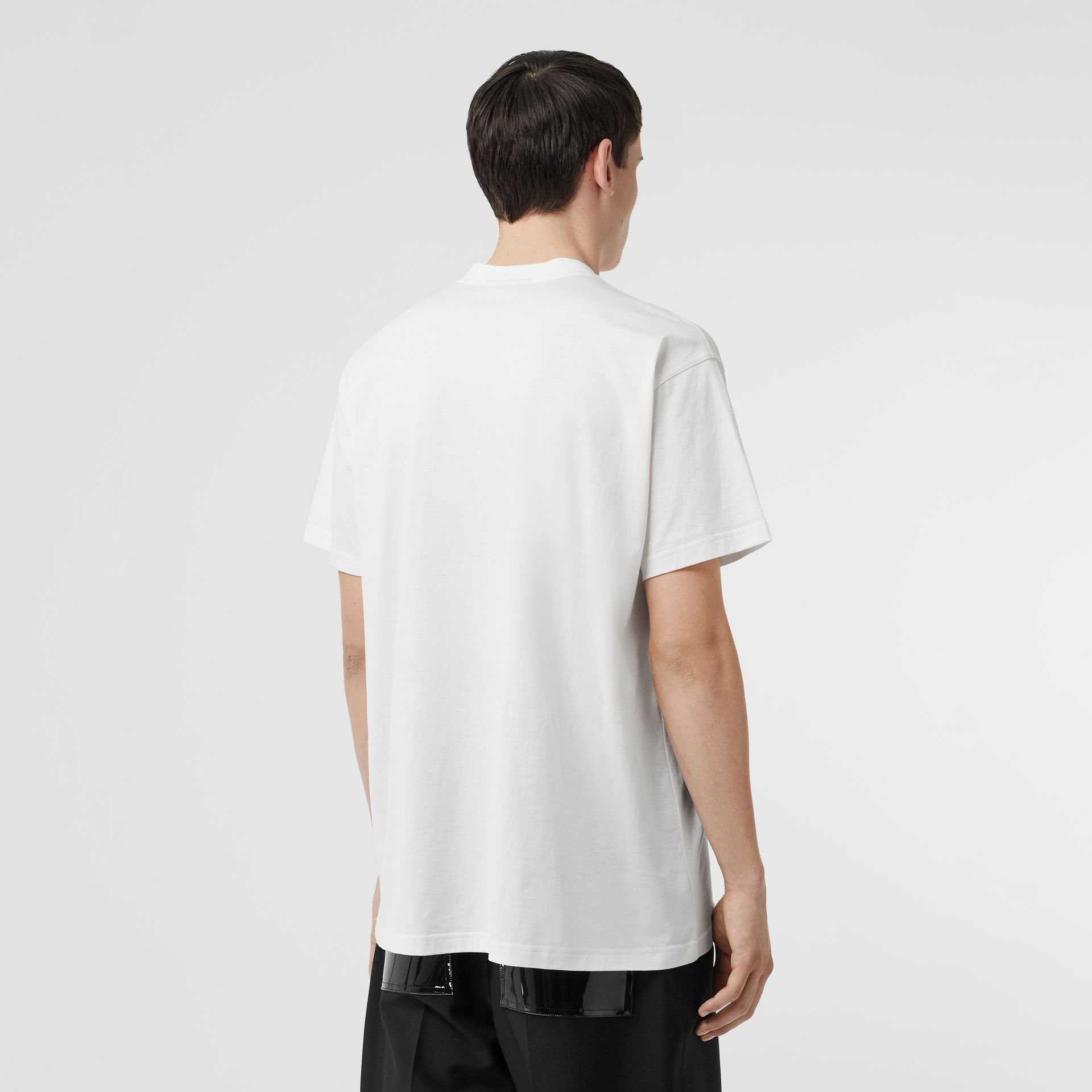 Kingdom Print Cotton T-shirt in White - Men | Burberry United States - gallery image 2