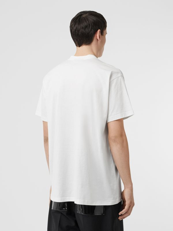 Kingdom Print Cotton T-shirt in White - Men | Burberry United States - cell image 2