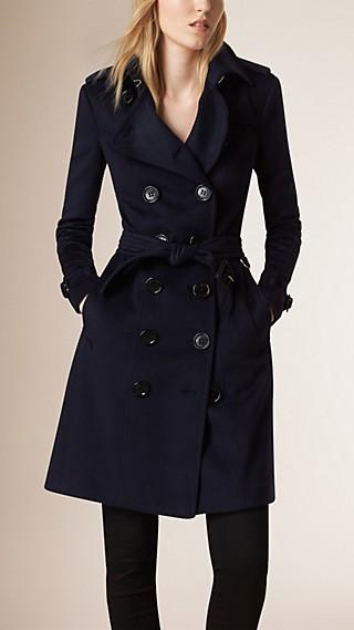 Sandringham Fit Cashmere Trench Coat