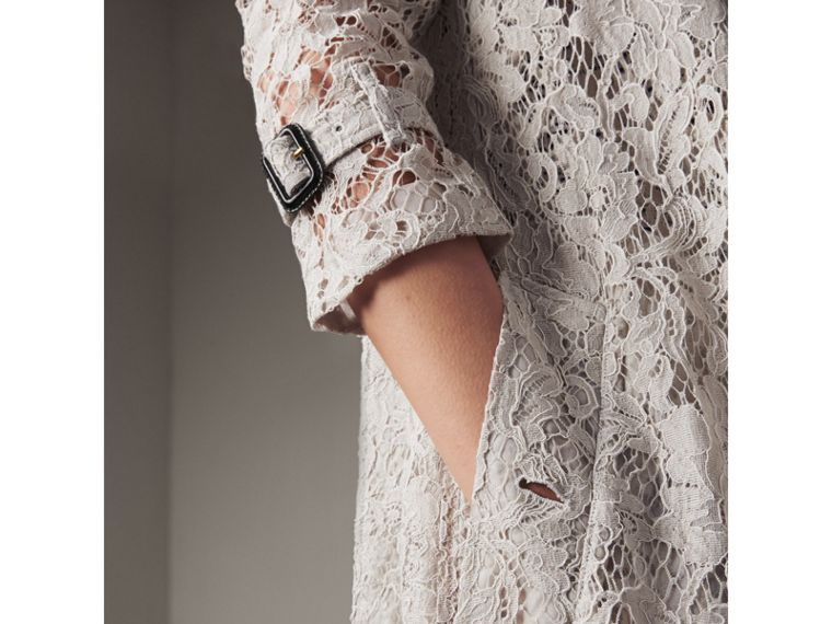 Macramé Lace Trench Coat in Pale Grey - Women | Burberry - cell image 4