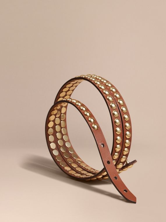 Riveted Leather Double-wrap Belt