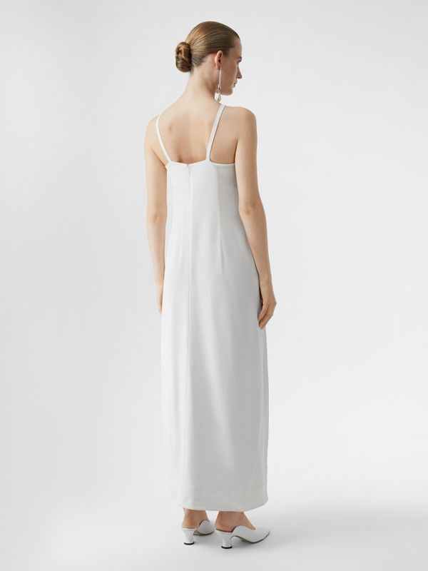 Drape Detail Stretch Jersey Gown in White - Women | Burberry - cell image 2