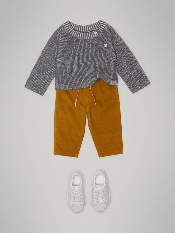 Corduroy Drawcord Trousers in Ochre - Children | Burberry United States - cell image 2
